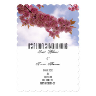 Bridal Shower Blossoms Party Family Friends Guests Card