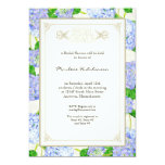 Bridal Shower Blue Hydrangea Lace Floral Formal Personalized Announcements
