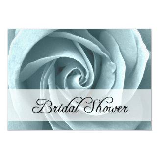 bridal shower : blue rose card