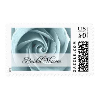 Bridal Shower : Blue Rose : Postage