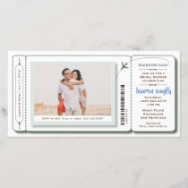 Bridal Shower Boarding Pass Photo Invite