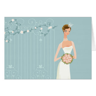 Bridal shower bouquet card