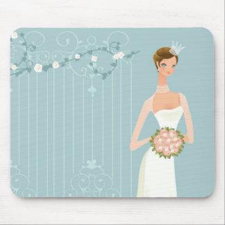 Bridal shower bouquet mouse pad