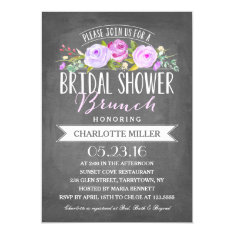 Bridal Shower Brunch | Bridal Shower Card at Zazzle