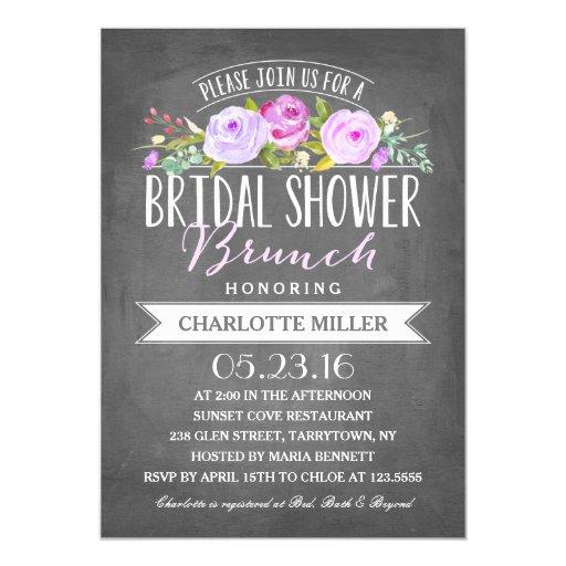 Bridal Shower Brunch Bridal Shower Card Zazzle