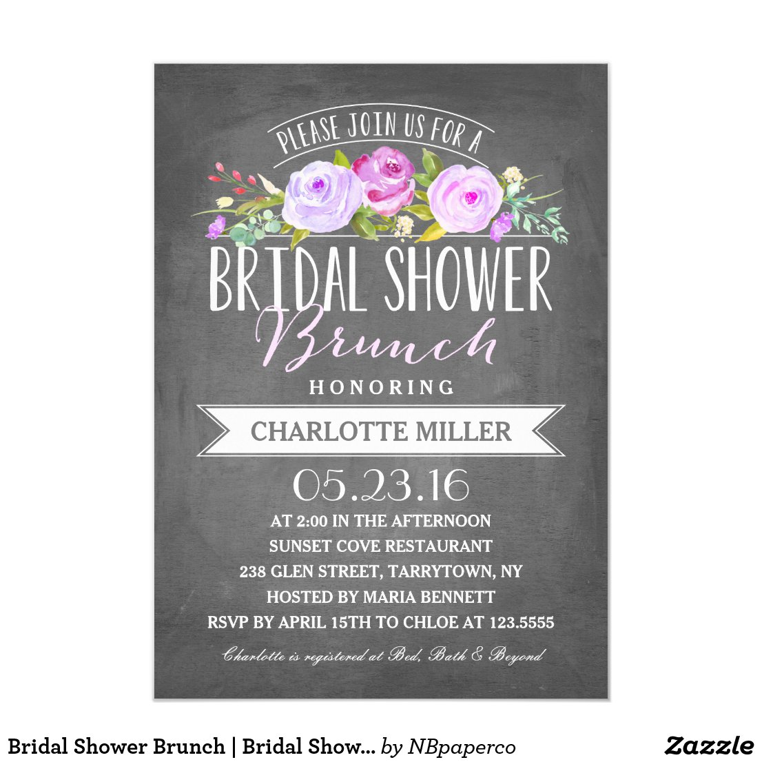 Bridal Shower Brunch | Bridal Shower Invitation