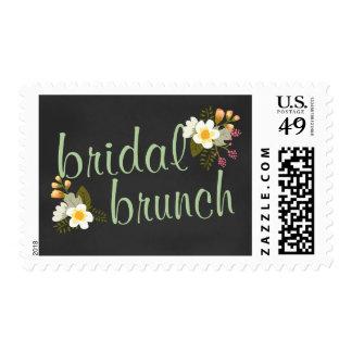 Bridal Shower Brunch Floral Chalkboard Stamp