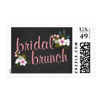 Bridal Shower Brunch Floral Chalkboard Stamps