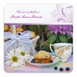 Bridal Shower Brunch 5.25x5.25 Square Paper Invitation Card