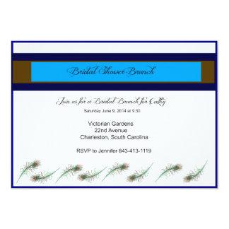 Bridal Shower Brunch Peacock Invitation