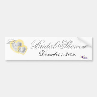 Bridal Shower Bumper Sticker  - Customized Car Bumper Sticker