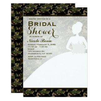 Bridal Shower Camoflague Bride Modern Invitations