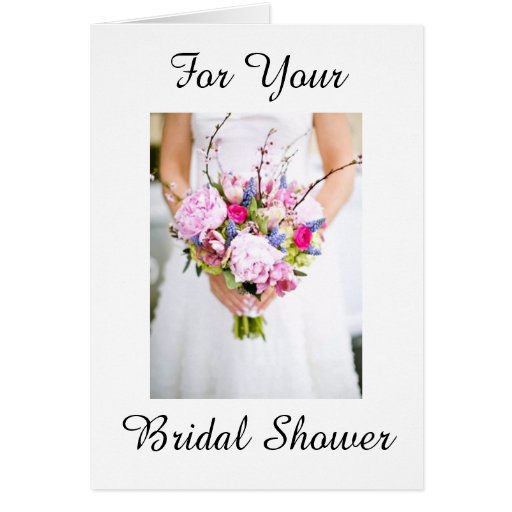 BRIDAL SHOWER CARD WITH WISHES ON NEW JOURNEY