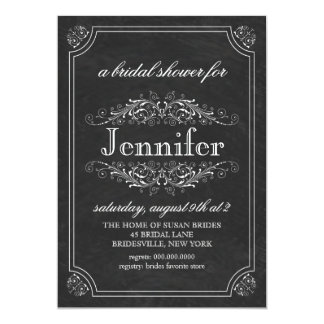 Bridal Shower | Chalk Board Theme Bridal Shower Card