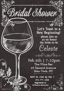Chalkboard bridal shower invitations announcements zazzle bridal shower chalk chalkboard wine invitation filmwisefo Choice Image