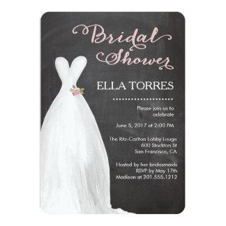 Bridal Shower | Chalkboard Dress Card