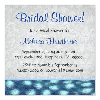 Bridal Shower Cheetah Pattern Card
