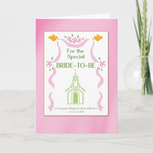 Bridal Shower Church Religious Thank You Card Zazzle Com