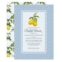 Bridal Shower Citrus Garden Lemon Trellis Pattern Invitation