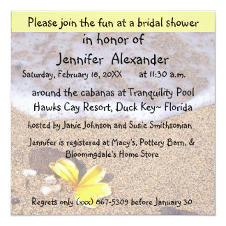 Bridal Shower Coastal Location Party Invite