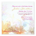 Bridal Shower, colorful floral graphic invite