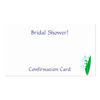 Bridal Shower!, Confirmation-Customize Business Card