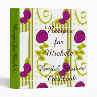Bridal Shower Cookbook Binder - Customizable