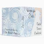 Bridal Shower Cookbook - Flora Blue Binders