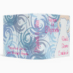 Bridal Shower Cookbook - Flora Blue (darker) Binders