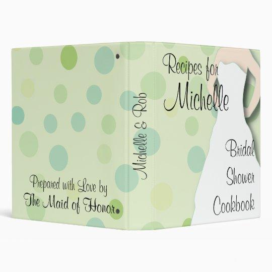 Bridal Shower Cookbook - Greens Binder