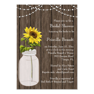 Bridal Shower country sunflower Card