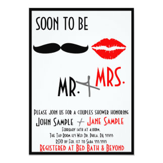 Bridal Shower Couples Invitation