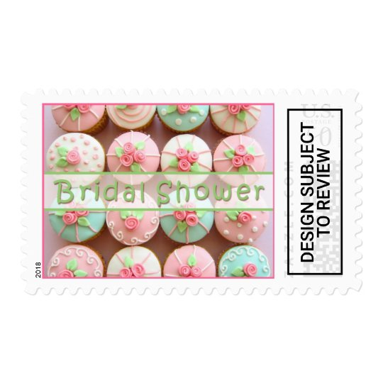 bridal shower cupcakes postage stamp