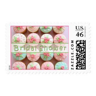 Bridal Shower Cupcakes Postage Stamp