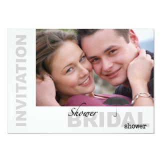 Bridal Shower - Custom Photo B&W Invitatation Card