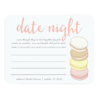 Bridal Shower Date Night Cards   French Macarons
