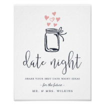 Bridal Shower Date Night Jar Sign