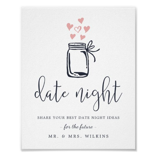 Bridal Shower Date Night Jar Sign