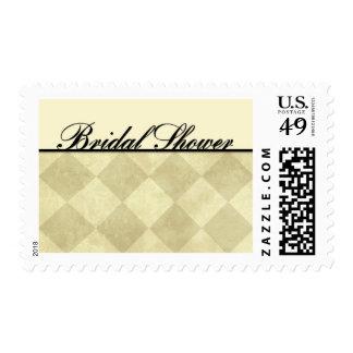 Bridal Shower - Diamonds Postage Stamp