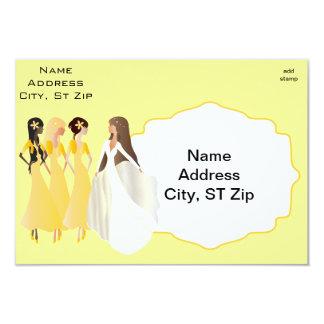 Bridal Shower   DIY Text   Yellow 3.5x5 Paper Invitation Card