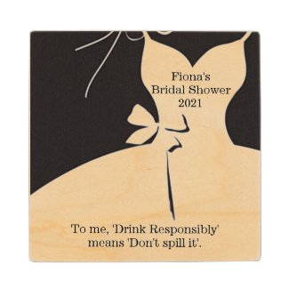 Bridal Shower Drink Coaster