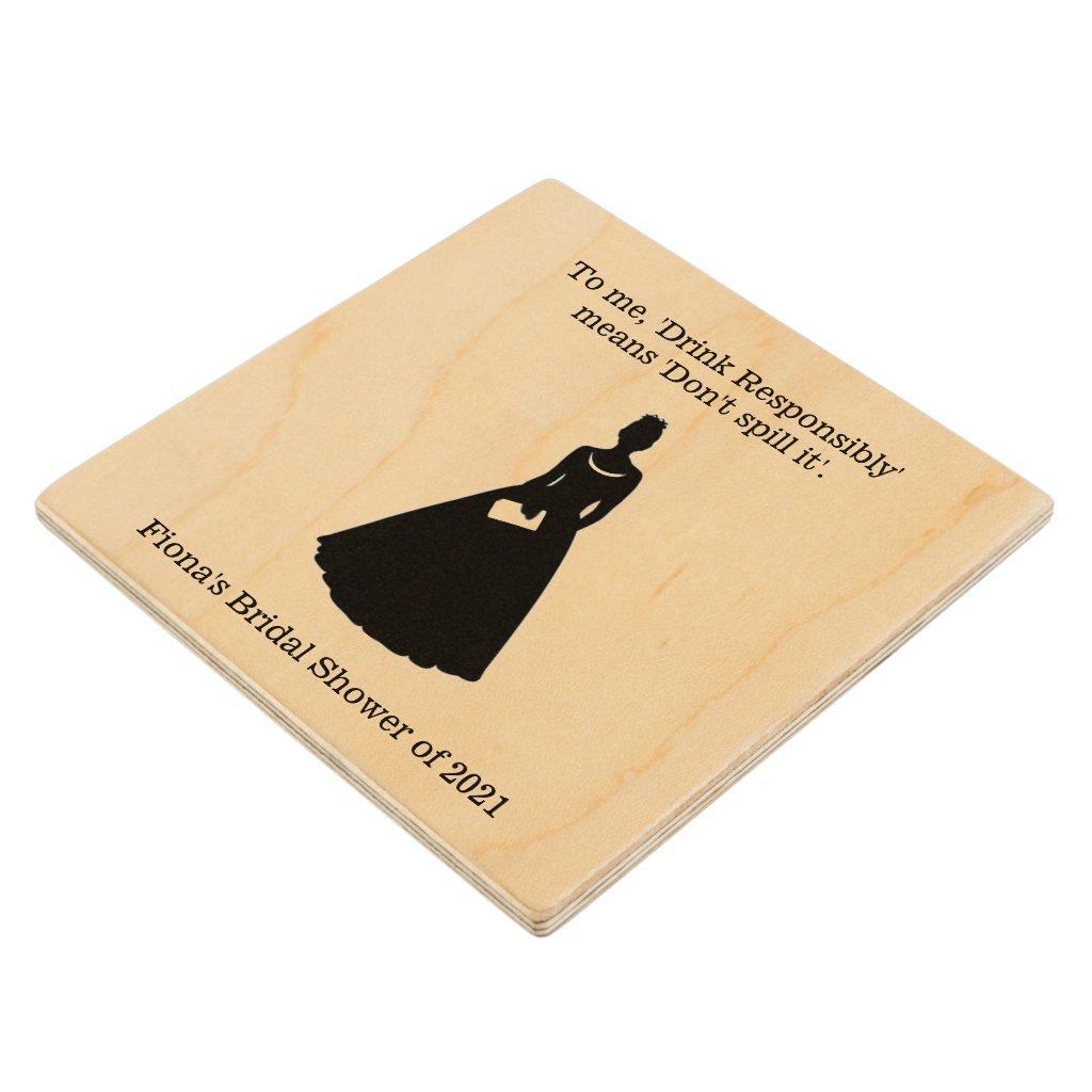 Bridal Shower Drink Coaster