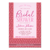 Bridal Shower • Dusky Rose Pink Geometric Pattern Card