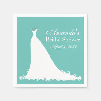 bridal shower elegant bride napkin