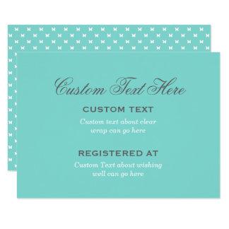 Bridal Shower Enclosure   Aqua Blue Card