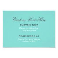 Bridal Shower Enclosure | Aqua Blue Card (<em>$1.75</em>)