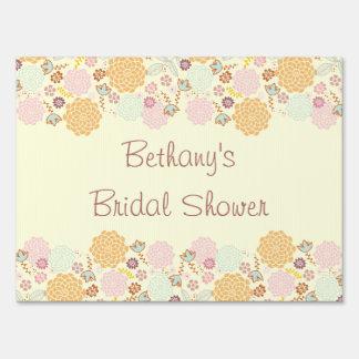 Bridal Shower Fancy Modern Floral Sign