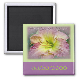 Bridal Shower Fancy Pink Daylily Blossom Magnet