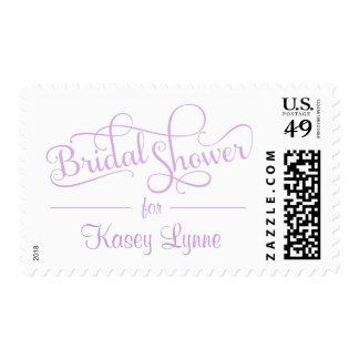 Bridal Shower Fancy Rustic Script Postage