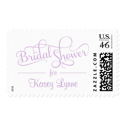 Bridal Shower Fancy Rustic Script Postage Stamps
